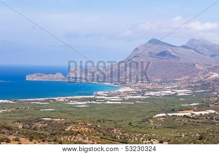 View Of A Cretan Landscape, Greece