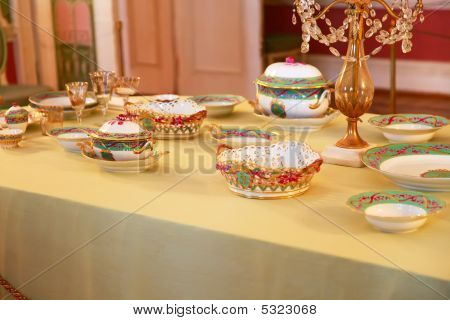 Table Setting At A Luxury  Reception