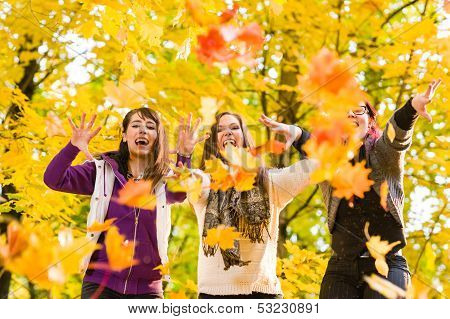 Sisters And Maple Leaves