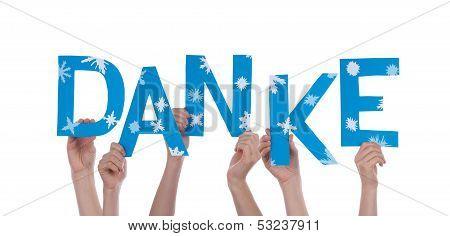Hands Holding Danke