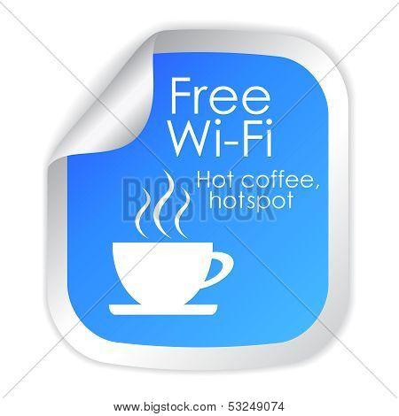 Free wi-fi label