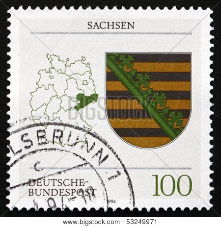 Postage Stamp Germany 1994 Coat Of Arms, Saxony