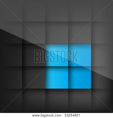 Abstract background with paper layers and shadows