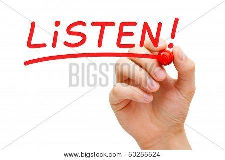 Listen Red Marker