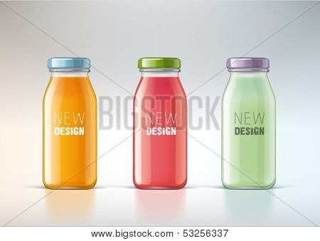 juice in a glass bottle for new design