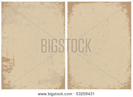 Vintage and distressed paper textures. Great for any vintage or grunge design. Distressed overlays are separated and easy to edit.