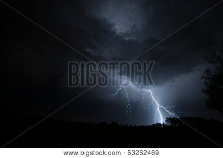 Lightning Striking Ground