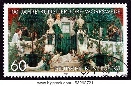 Postage Stamp Germany 1989 Summer Evening, By Heinrich Vogler