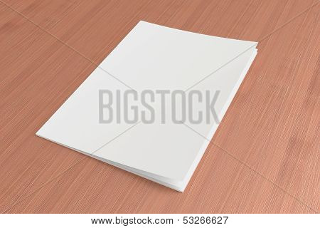 Blank Magazine On The Wooden Background