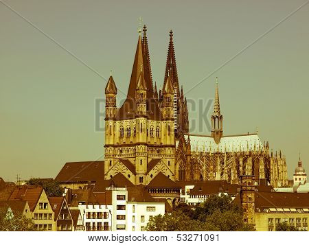 Retro Looking Koeln Dom