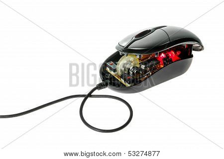 Disassemble Computer Optical Mouse .