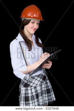 Girl In A Helmet