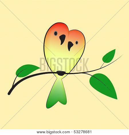 Lovebirds on the tree