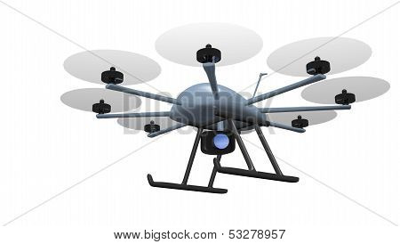 eight rotor drone tracking