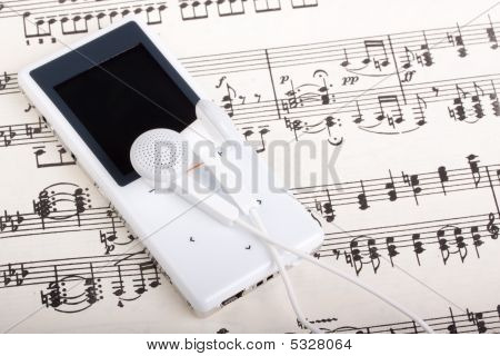 Mp3 Player And Note