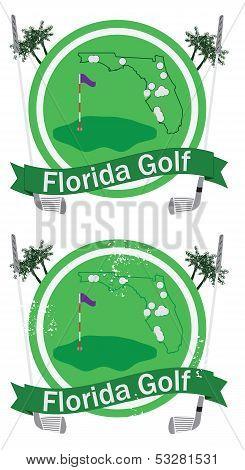 Retro Florida Golf Badge