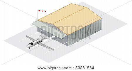 Isometric Jet Hangar