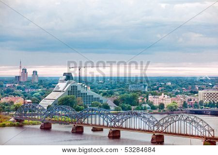Riga, cityscape from Latvian Academy of Sciences