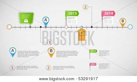 Timeline infographic business template vector illustration