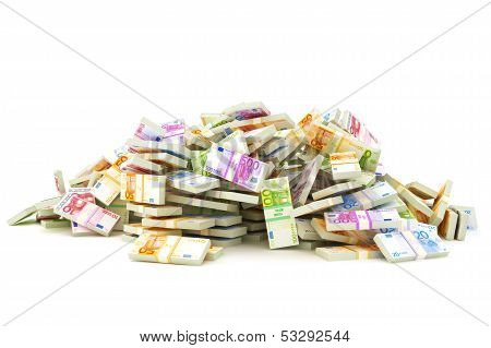 European pile of money
