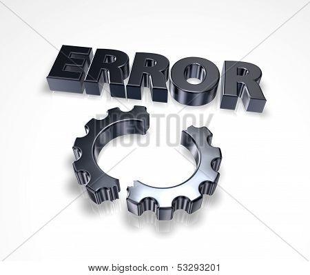 Error And Broken Cogwheel