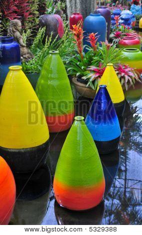 Multicolored Terracotta Pots
