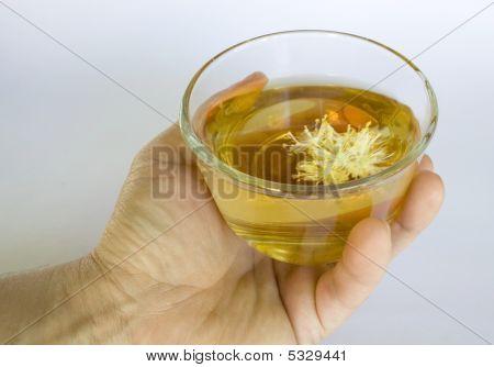 medicinal tea made from linden flowers