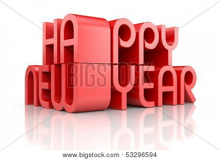 New Year 2014 card