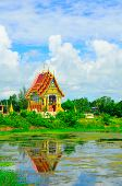 picture of northeast  - the temple and lagoon in northeast Thailand - JPG