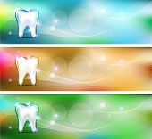 stock photo of toothache  - Dental banners various colors - JPG