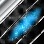 foto of titanium  - Old metal background with carbon texture - JPG