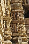 stock photo of khajuraho  - Human Sculptures at Vishvanatha Temple  - JPG