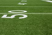Yard Lines of a Football Field from the Fifty
