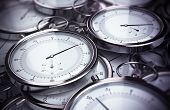 picture of stopwatch  - Conceptual 3D render image with depth of field blur effect - JPG