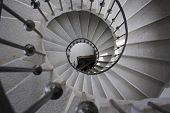 image of spiral staircase  - spiral rock staircase to the old lookout - JPG