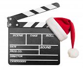 picture of clapper board  - Clapper board with Santa - JPG