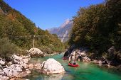 Minirafting On The Soca River, Slovenia