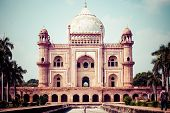 Safdarjung's Tomb Is A Garden Tomb In A Marble Mausoleum In Delhi, India