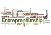 picture of entrepreneurship  - entrepreneurship word cloud concept isolated on white - JPG