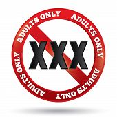 pic of pornographic  - XXX adults only content sign - JPG