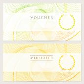 picture of debenture  - Colorful background with guilloche pattern  - JPG