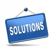 picture of solution  - solutions solve problems and search and find a solution icon button or sign   - JPG