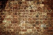 picture of nasty  - Brown grungy wall  - JPG