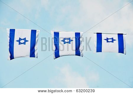 Israel Flag On Independence Day
