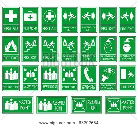 Green Safety Sign