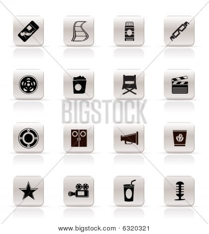 Simple Cinema and Movie Icons