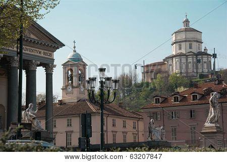 Church Of Gran Madre; Monte Dei Cappuccini; Turin; Italy