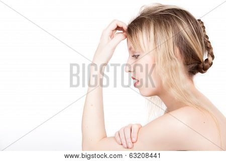 Girl With Braid Is Thinking