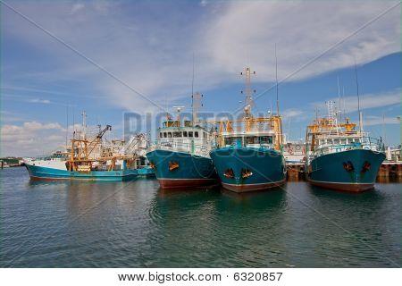 Fishing Ships In Fremantle Harbor