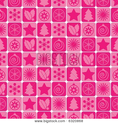 Navidad rosa transparente